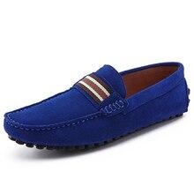 US6-10 Замша Скольжения На Удобных копейки вождения Loafer мужчины лодка обувь мода мужская бизнес обувь мокасины