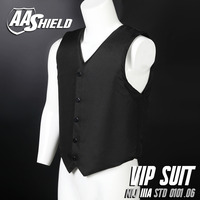 AA Shield Bullet Proof Vest Body Armor VIP Suit Comfortable Armour Carrier Color Black Aramid Core