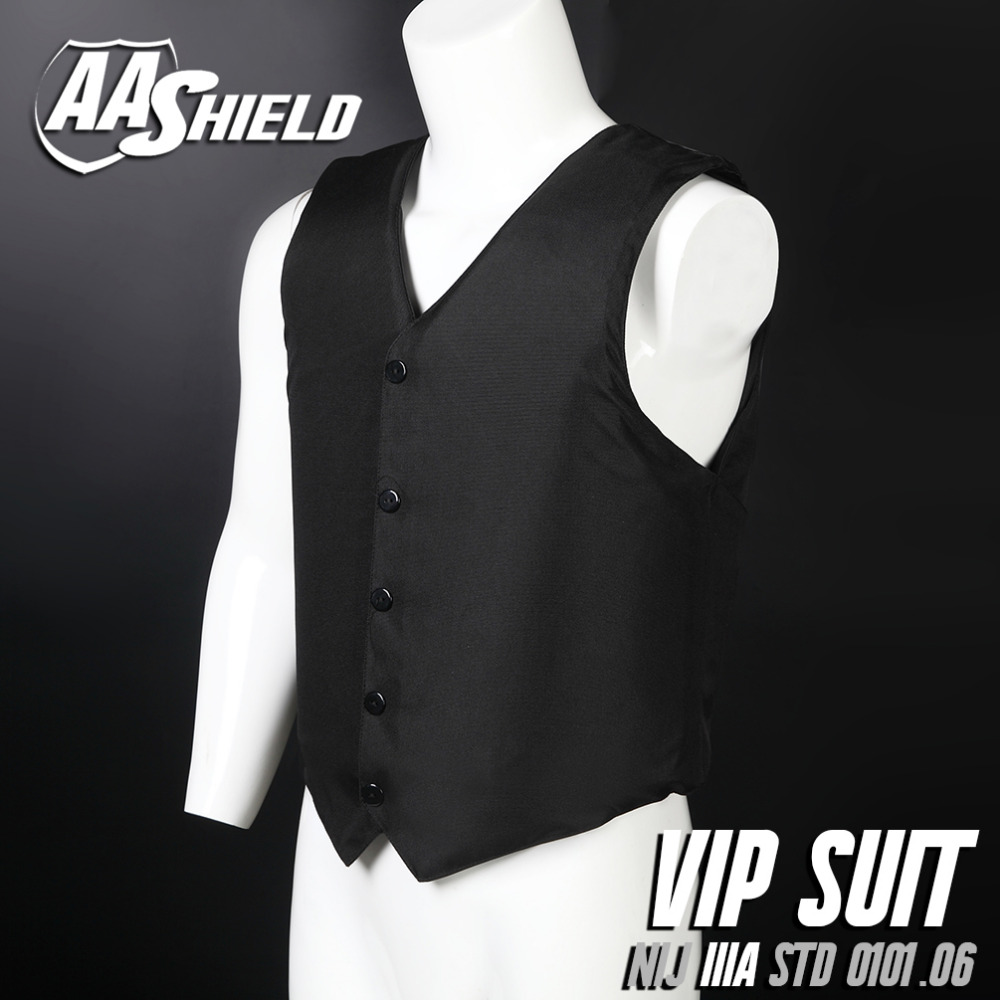 AA Shield Bullet Proof Vest Body Armor VIP Suit Comfortable Armour Aramid Core Carrier Color BlackAA Shield Bullet Proof Vest Body Armor VIP Suit Comfortable Armour Aramid Core Carrier Color Black