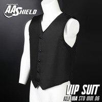 AA Shield Bullet Proof Vest Body Armor VIP Suit Comfortable Armour Aramid Core Carrier Color Black