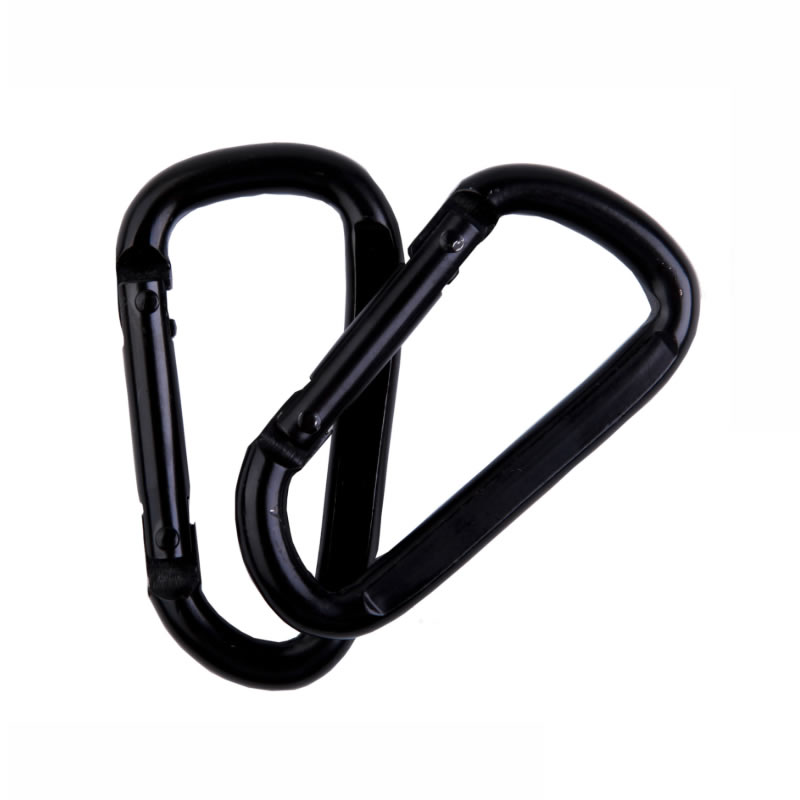 Strong Load-bearing D Carabiner Spring Snap Clip Hooks Hammock Swing Safety Buckle Carabiner Belts Hook Clasp Camping Hikiing
