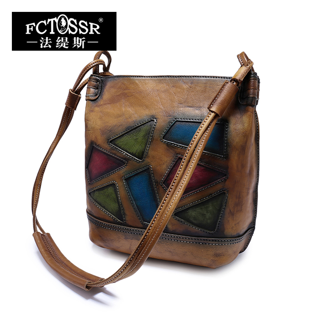 Office Lady Handbag 2018 Handcrafted Genuine Leather Women Shoulder Sling Bags High Quality Messenger Bag 2