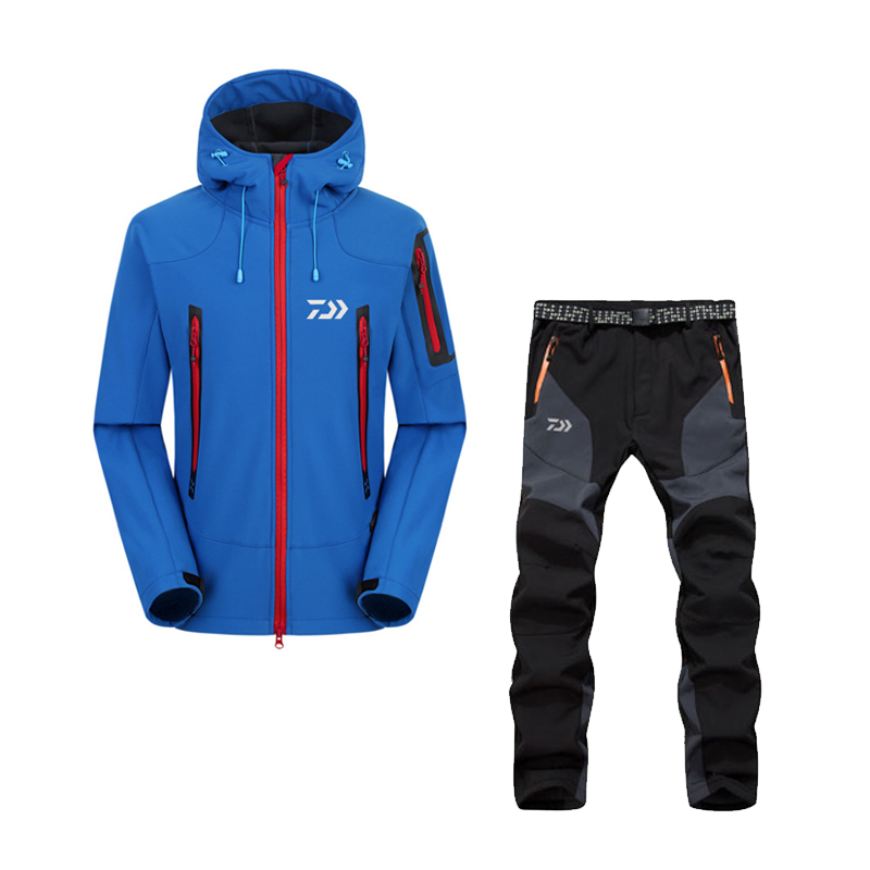 2017 High Quality Fishing Clothing Sets Men Breathable Outdoor Sportswear Suit Winter Fishing Shirt and Pants  FS031 2016 daiwa warm fishing clothing sets men breathable sun uv protection outdoor sportswear suit fishing shirt fishing pants