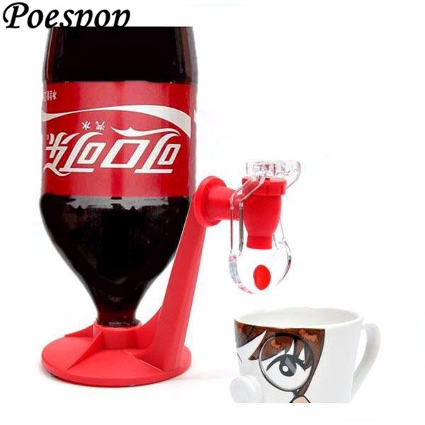 POSEPOP Upside Down Automatic Drink Dispenser Hand Pressure Beverage Drinking Fountains Switch for Coke Bottle Party Supplies