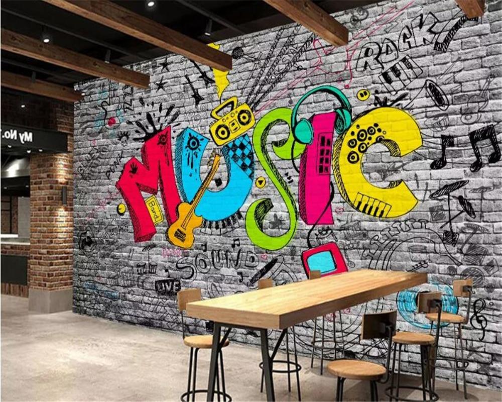beibehang wallpaper  3d Wall Sticker KTV Bar Graffiti 3d Wallpaper Home Decor Background Wall Mural wallpaper for bedroom wallsbeibehang wallpaper  3d Wall Sticker KTV Bar Graffiti 3d Wallpaper Home Decor Background Wall Mural wallpaper for bedroom walls