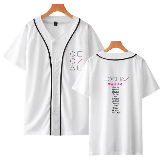 LOONA THEMED BASEBALL T-SHIRT (2 VARIAN)