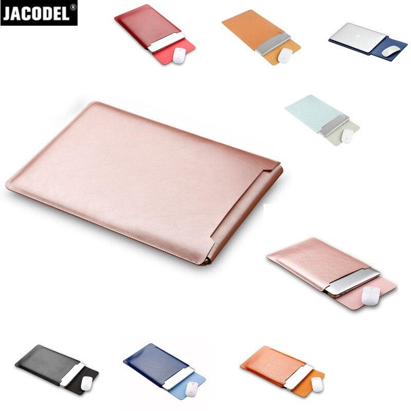 Jacodel Microfiber font b Laptop b font Sleeve Bag Case for Macbook 12 Air 11 13