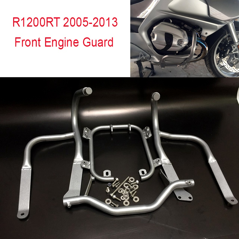 R1200RT 2005 2013 Front Rear Engine Guard Highway Freeway Crash Bar Fuel Tank Protector for BMW
