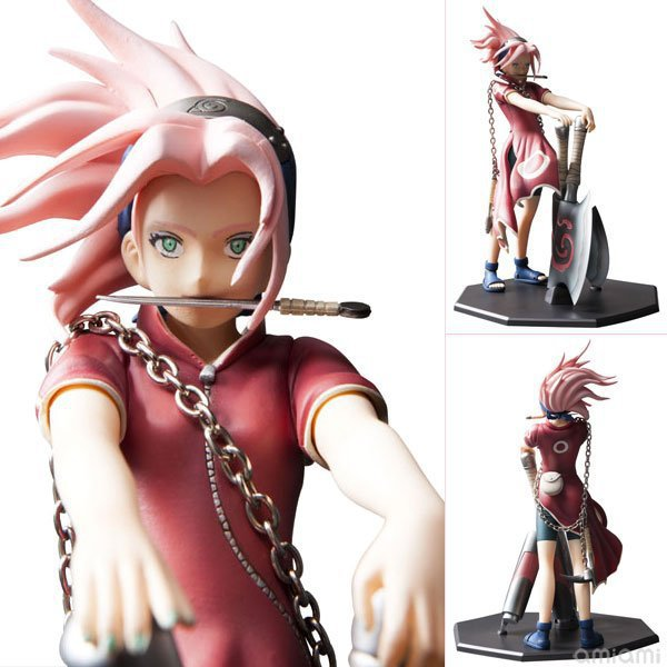Anime Naruto Haruno Sakura Reviving Sharingan PVC Action Figure Resin Collection Model Toy Gifts Brinquedos new hot 23cm naruto haruno sakura action figure toys collection christmas gift doll no box