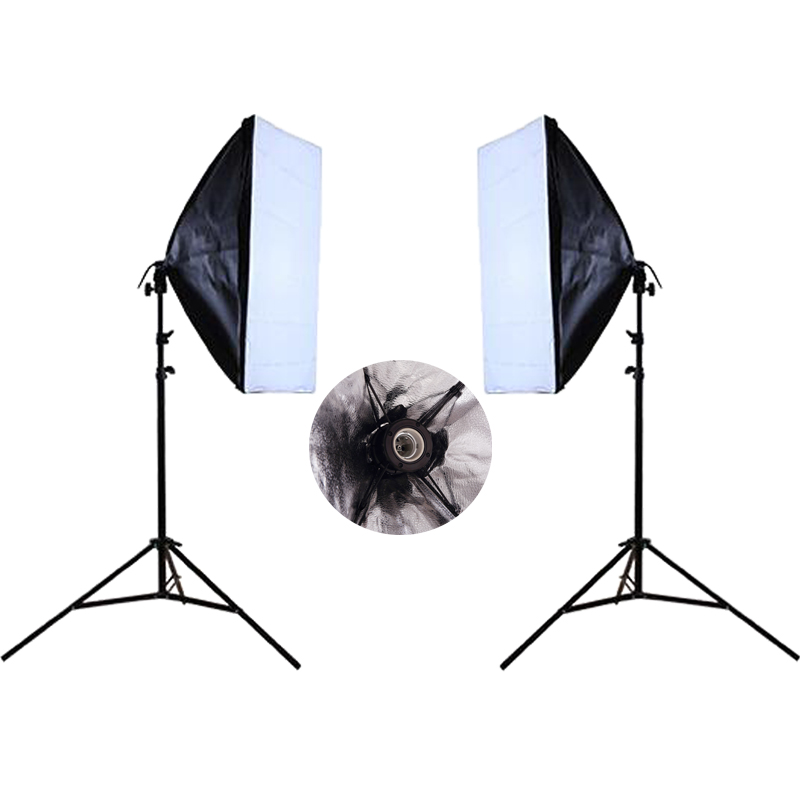 Prix pour Photo Studio Kit Photographie Éclairage Continu Softbox Kit 2 PCS * Lumière stand + 2 PCS * Filaire Softbox