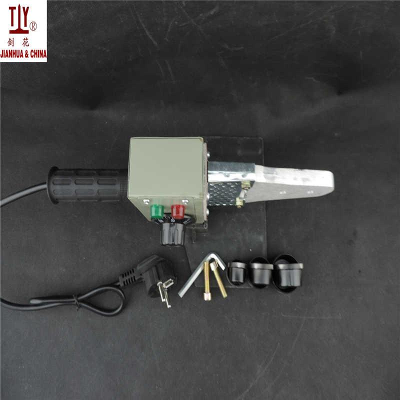 Caja de papel, máquina de termofusión ppr con control de temperatura de 20-32mm, soldadora de tubos de plástico