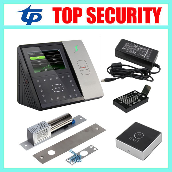 Iface701 face fingerprint time attendance and access control system optional battery standalone face access control system