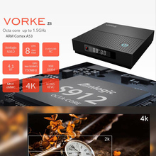 6 pieces VORKE Z6 KODI 17.3 Android 7.1.2 Smart TV BOX Amlogic S912 4K TV BOX 3GB DDR4 32GB eMMC5.0 AC WIFI 1000M Bluetooth 4.1