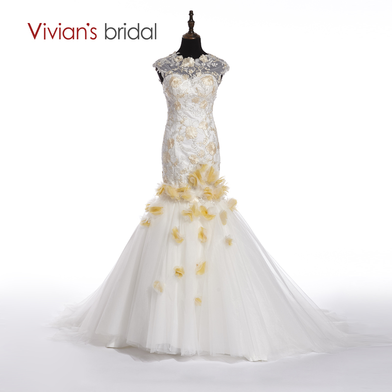 Vivians Braut Sexy Backless Luxus Meerjungfrau Brautkleider Jahrgang ...