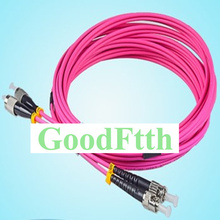 Cabos de remendo de fibra jumpers ST FC FC ST om4 duplex goodftth 1 15m 6 pçs/lote