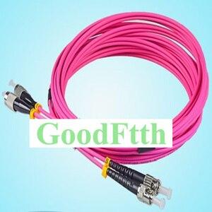 Image 1 - Fiber Patch Cords Jumpers ST FC FC ST OM4 Duplex GoodFtth 1 15m 6pcs/lot