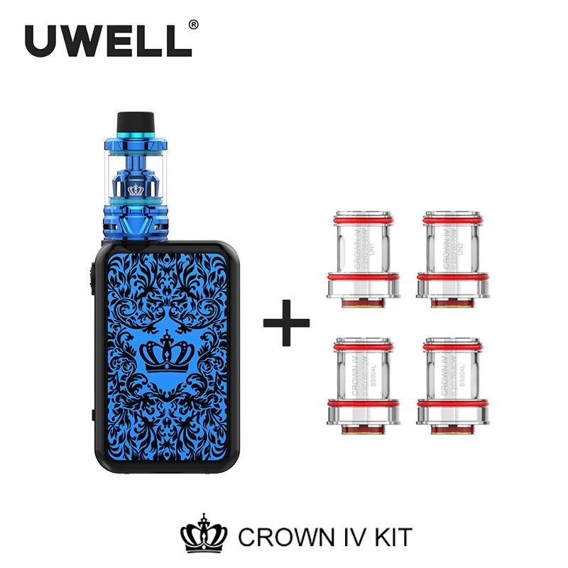 UWELL couronne 4 Kit et ensemble de bobines 5ml couronne 4 réservoir 5-200W couronne boîte Mod couronne IV Kit vaporisateur de Cigarette électronique