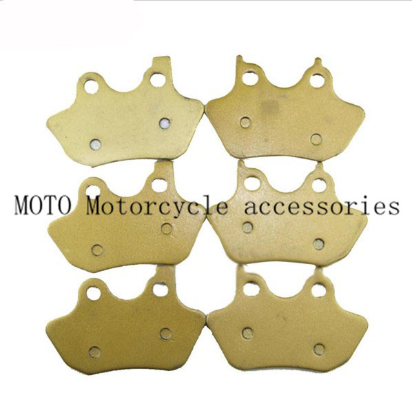 Front & Rear Motorcycle Brake Pads For Harley Touring Sportster 883 Dyna Softail 2000-2006 2007 Motorbike Brake Pads Set motorcycle accessories rear fender eliminator license plate bolt screw for harley dyna softail sportster black silver