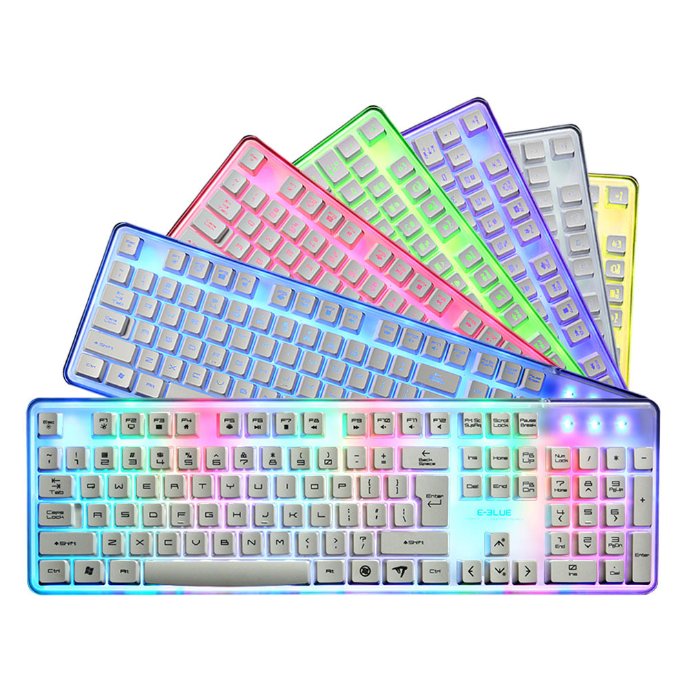 цена на EKM725 Mechanical Feel Led Gaming Keyboard Waterproof Colorful Backlit Professional Wired Gaming Keyboard 20A Drop Shipping