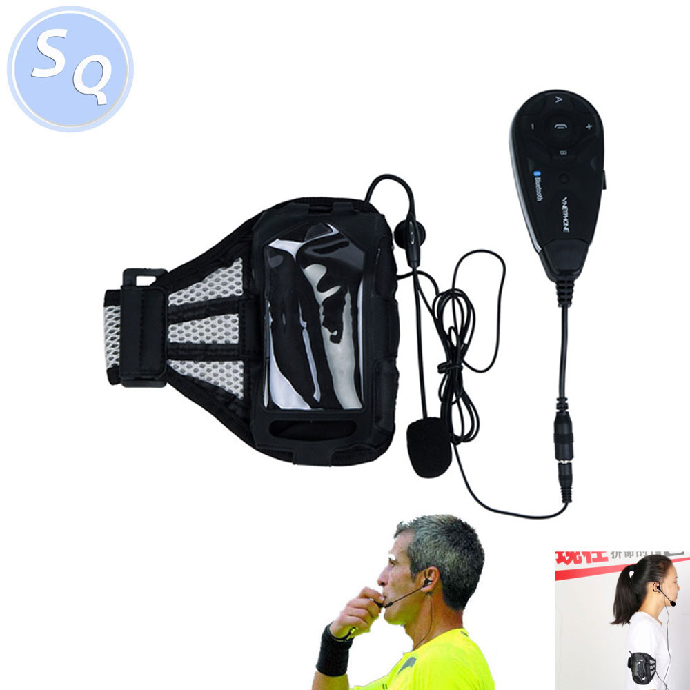 5 Referees Talk Same Time Football Referee Coach Headset Judger Arbitration Walkie Talkie Earphone For Football Referee