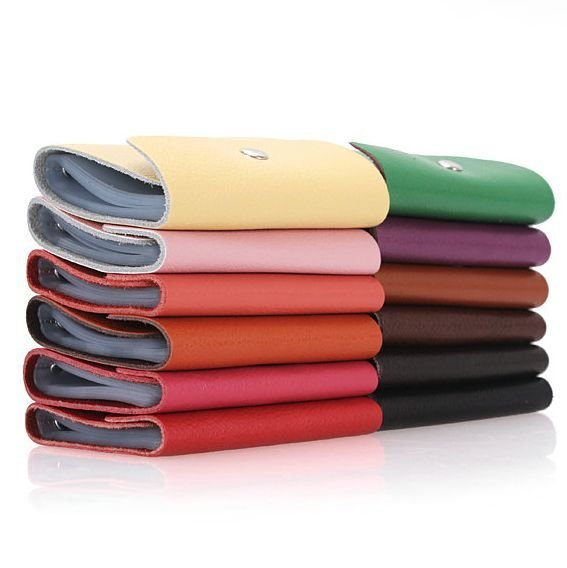 Hot Promotion Gift :12 Colors Genuine Leather Card Holders,ID holder for Free Shipping Wholesale and Retail