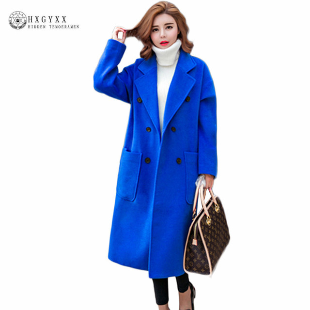 Aliexpress.com : Buy 2017 Plus Size Cashmere Coats Women Wool Coat ...