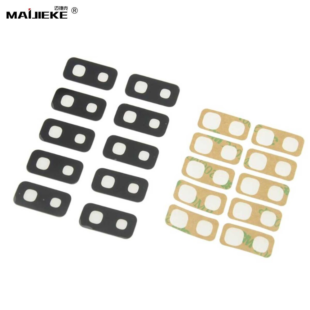 10PCS Rear Back Camera Glass <font><b>Lens</b></font> Replacement For <font><b>Samsung</b></font> <font><b>Galaxy</b></font> S10 plus S9 Plus S8 Plus <font><b>S7</b></font> edge Note 9 8 Camera Glass+Sticker image