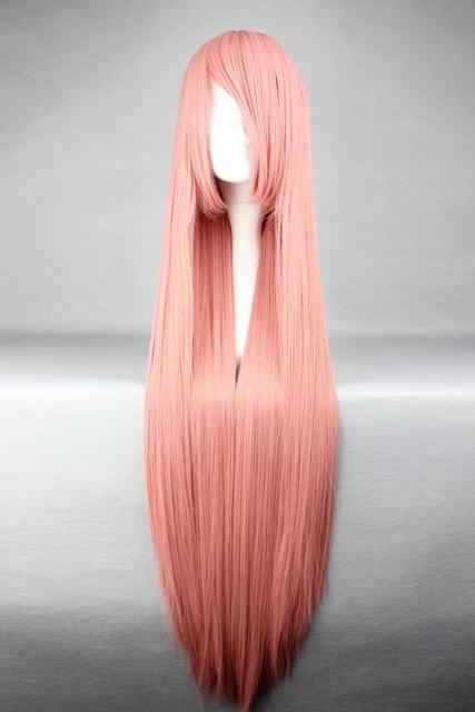 Mcoser 100 cm largo vocaloid luka-rosa Cosplay peluca