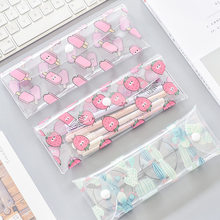 1 Pcs Kawaii Pencil Case Strawberry PVC Gift Estuches School Pencil Box Pencilcase Pencil Bag School Supplies Stationery(China)