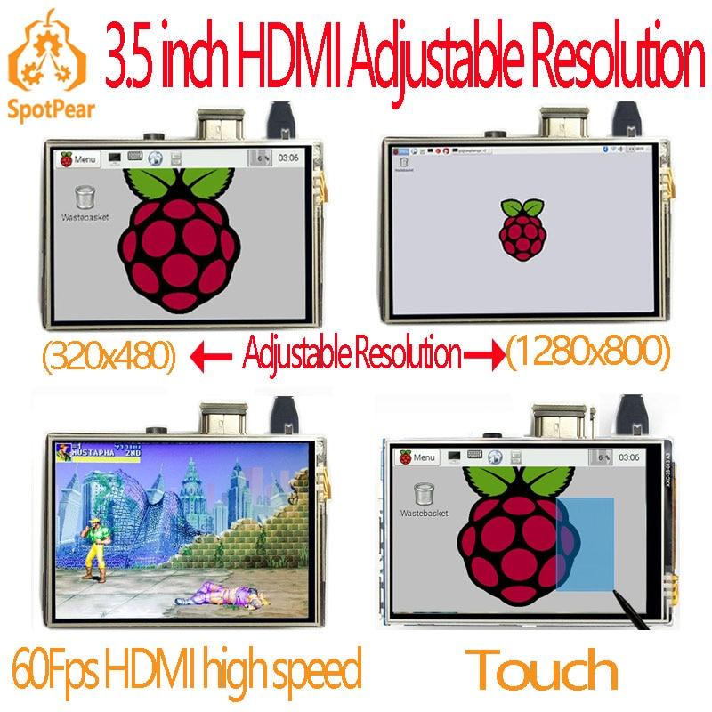 Raspberry Pi 3,5 Zoll Hdmi Lcd Touchscreen Touchscreen 60 Fps Mit Hoher Geschwindigkeit 3,5 Inch Besser Als 5 Zoll Und 7 Zoll