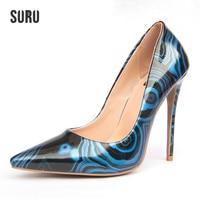 Zapatos Mujeres o Vestido de Fiesta Bombas de SURU Woth Textura de Piedra, 120mm Altura Tacones para Office Lady Tamaño 34-43 Al Por Mayor y Al Por Menor