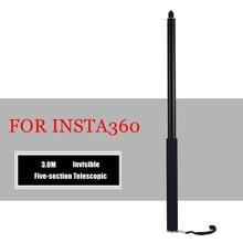 새로운 3m 총알 시간 보이지 않는 손잡이 1/4 표준 나사 Rotatable Selfie 스틱 Insta360 One R /X / One 360 카메라 액세서리