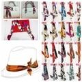 Free Shipping 2016 New Fashion 96 Styles Women Print Silk Ribbon Twilly Bag Scarf For Ladies