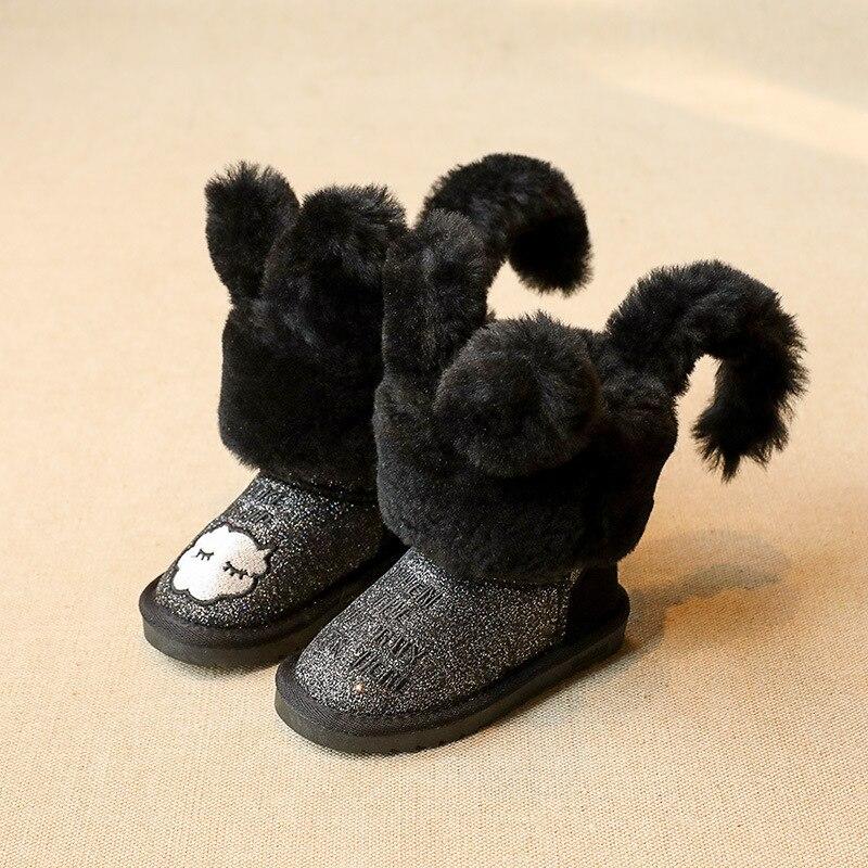 Новинка 2017 года мультфильм детей Снегоступы зимняя обувь для Обувь для мальчиков резиновая Сапоги и ботинки для девочек