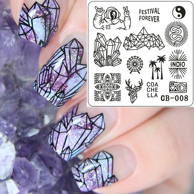 New Products Nail Stamping Plates Stainless Steel Image Art Manicure Templates Stamp Stencils