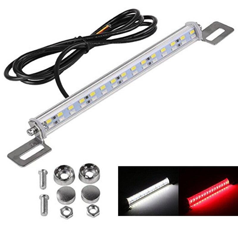 30leds Waterproof White/Red LED Backup Brake Light License Plate Car Truck SUV 30 LED 7.5w Bar tail Reverse Rear Lamp 12V