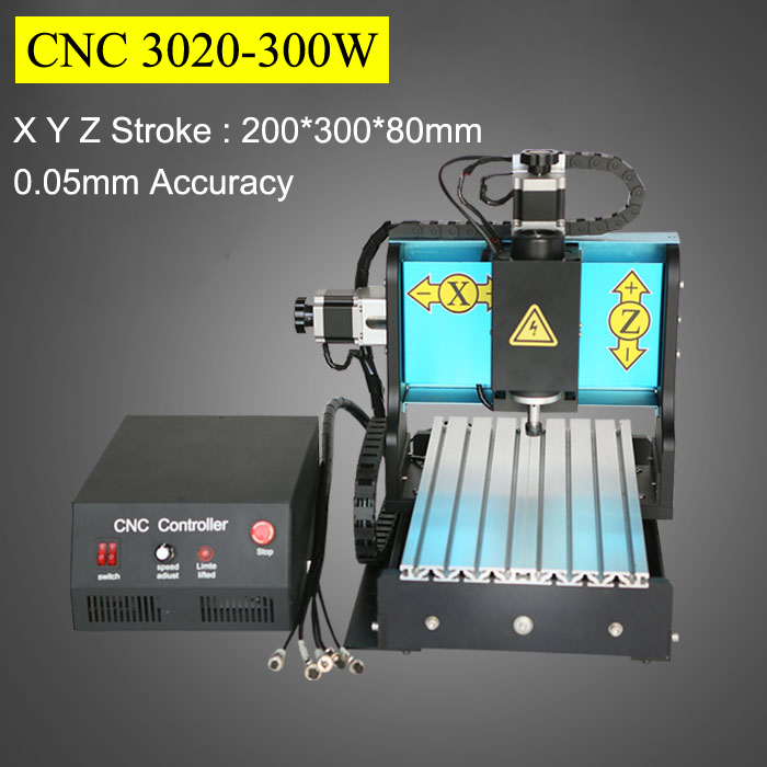 3Axis CNC Router 300W Spindle Motor 3020 Mach3 Parallel Port AC220V Engraving Machine PVC Acrylic Plastic Wood Carving cnc router wood milling machine cnc 3040z vfd800w 3axis usb for wood working with ball screw