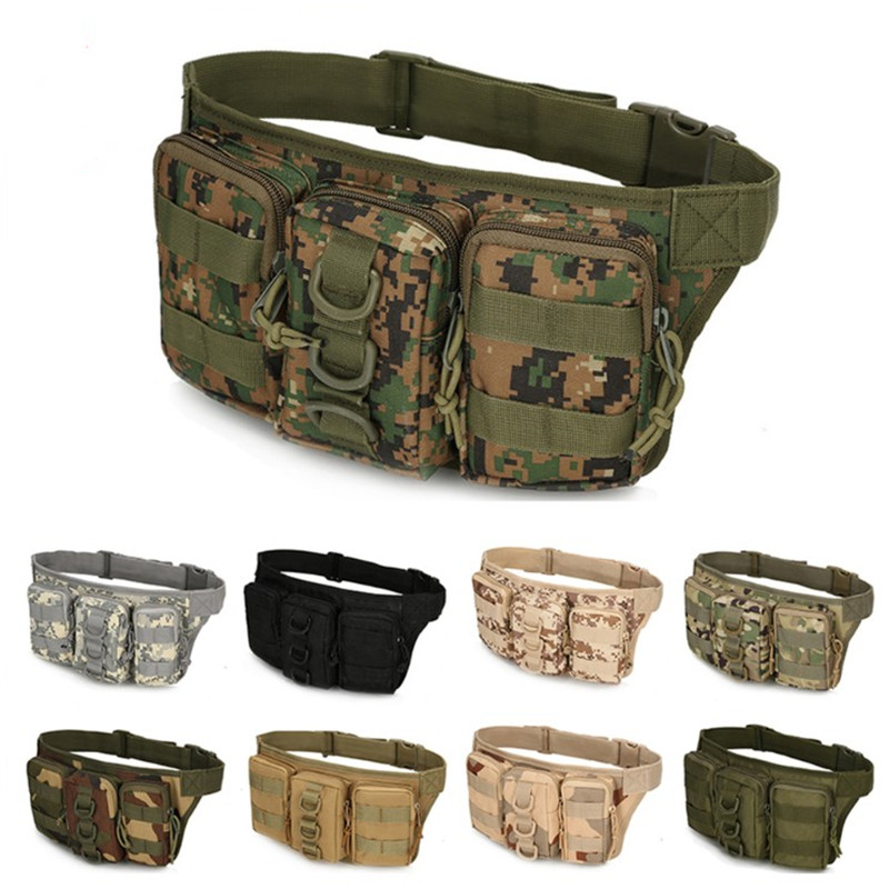 Waist Packs Twist Lock Super Blog Mobile Phone Wild Survival Tactical Belt Pockets Special Combat Camouflage Men Waistband Bag