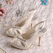 Wedopus MW206แฟชั่นฤดูร้อนรองเท้าสำหรับงานแต่งงานสูงส้นรองเท้าเจ้าสาว