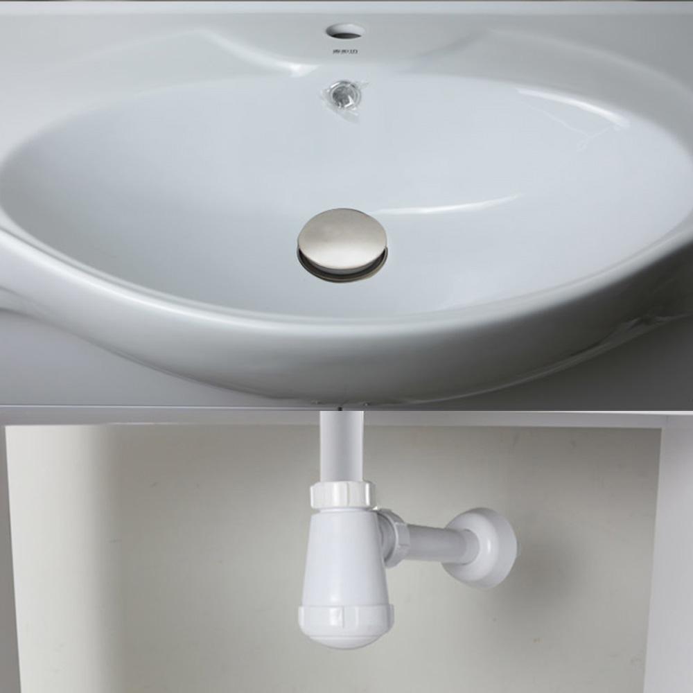 Talea Bathroom basin Drain kit Double basket filters stop most of ...