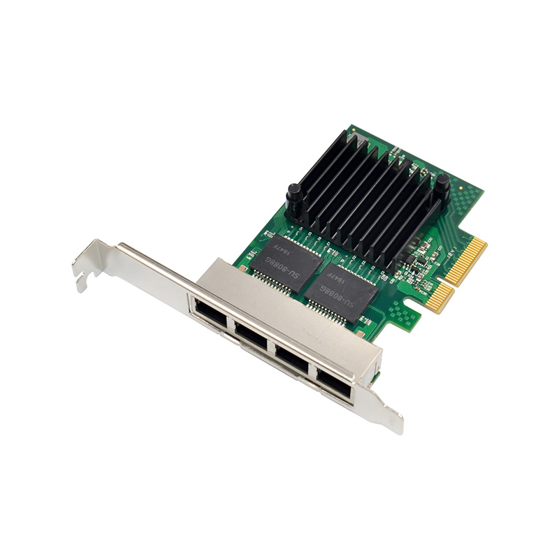 350T4 PCI-E X4 Quad Port 10/100/1000Mbps Gigabit Ethernet Network Card Server Adapter 4 Port LAN <font><b>I350</b></font>-<font><b>T4</b></font> NIC <font><b>Intel</b></font> NHI350AM4 image