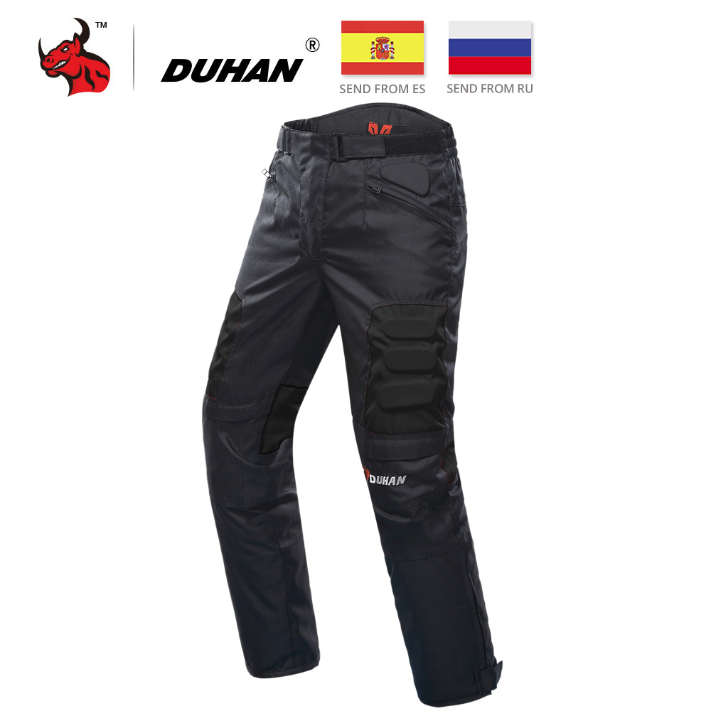 DUHAN Motosikal Seluar Motocross Pants Black Moto Pants Motocross Off-Road Racing Sports Knee Protective Pants Selector