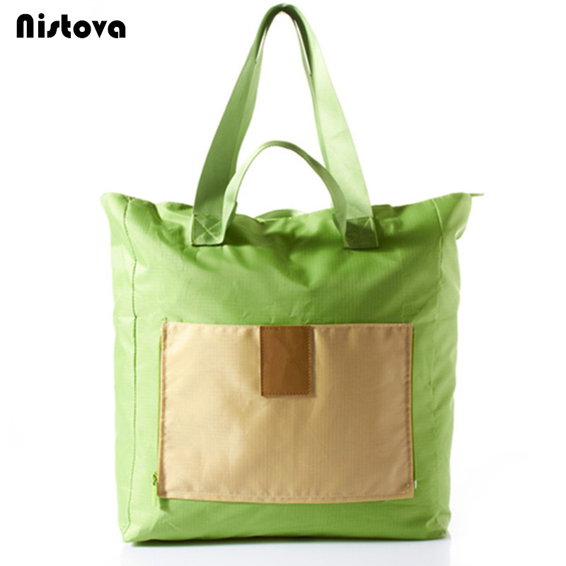 Travel Waterproof Wash Bags Folding Clothing Shopping Storage <font><b>Miscellaneous</b></font> <font><b>Handbag</b></font> Portable Foldable Multipurpose Shoulder Bag