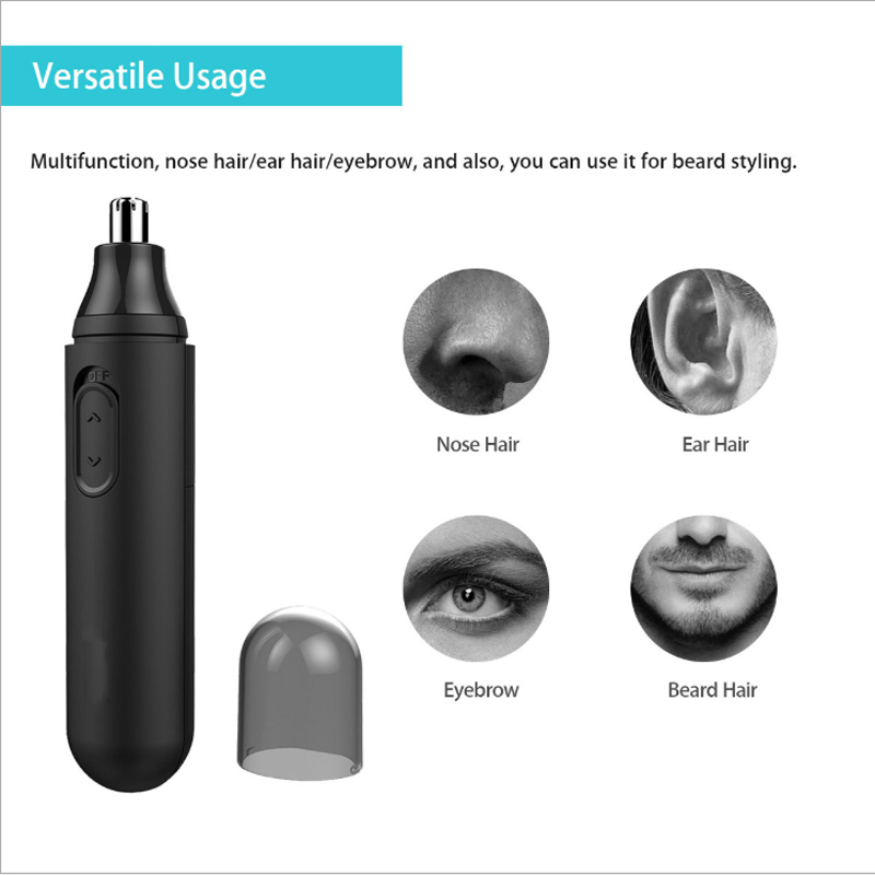 Nose hair Trimmer for men women ear eyebrow Trimmer hair removal shaving razor beard face hairs cut Shaping Washed Clipper razor in Nose Ear Trimmer from Beauty Health