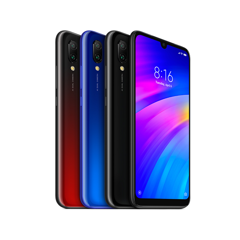 "Global Version Original Xiaomi Redmi 7 3GB 32GB Snapdragon 632 Octa Core 12MP Dual Cameras 6.26"" Screen Mobile Phones 4000mAh CE"