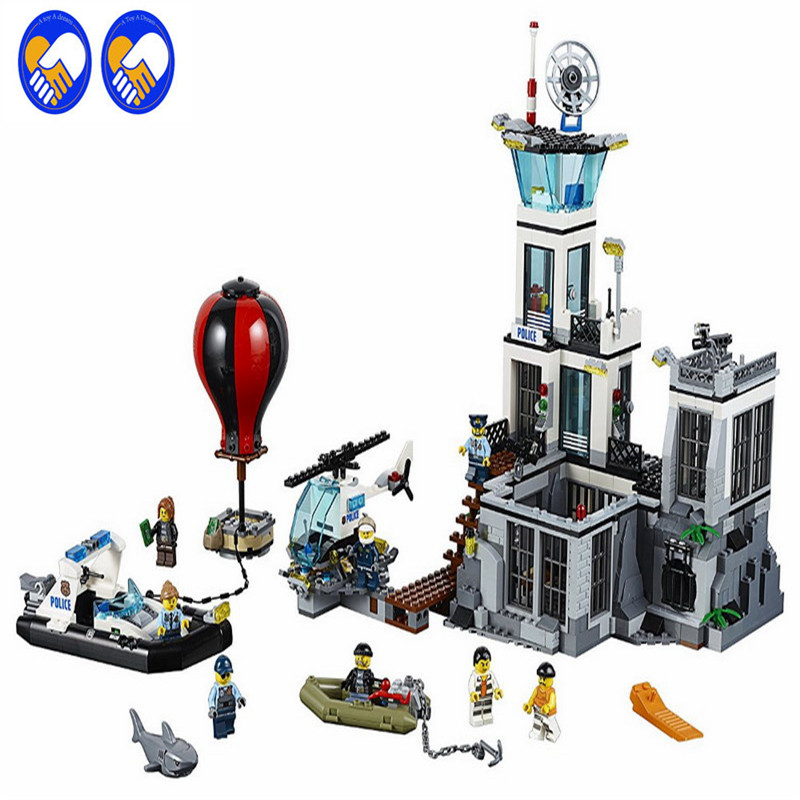 A Toy A Dream building toy 02006 815pcs Building Blocks with lepin City Series The Prison Island 60130 toys & hobbies gift  lis lepin 02006 815pcs city series prison island set children educational building blocks bricks boy toys with 60130