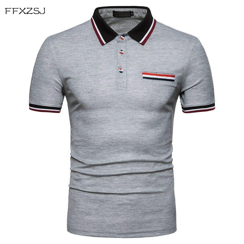 bf090246c2f8 Νέο 2018 αρσενικό λεπτό πουκάμισο πόλο περιστασιακό καλοκαίρι Μάρκα ...