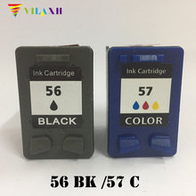 ФОТО 2pk h 56/57 black & color remanufactured ink cartridges c6656an c6657an