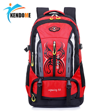 Hot Outdoor Climbing Backpack Waterproof Nylon Camping Mountaineering Rucksacks Unisex Hiking Cycling Men Women Sports Bag