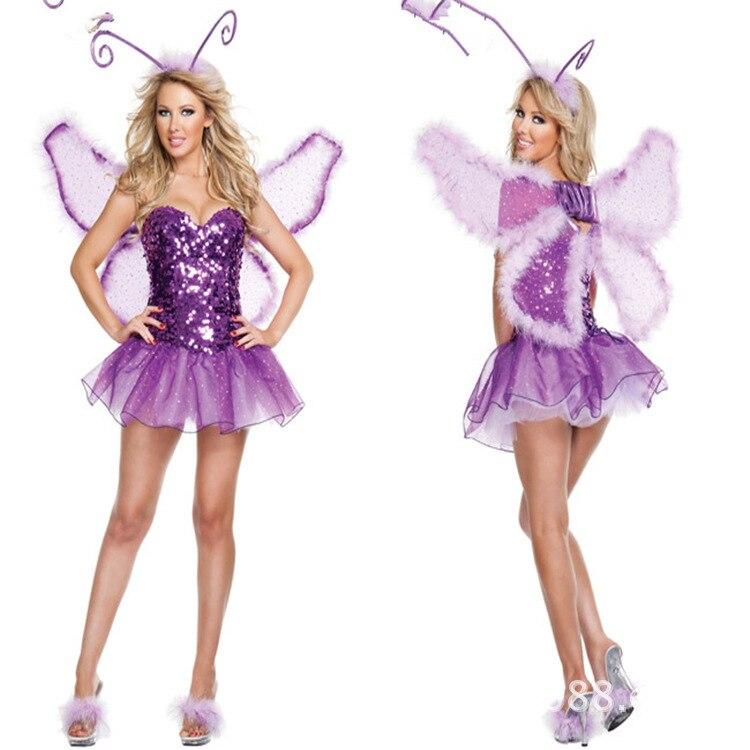 Hot Beautiful Butterfly Halloween Costume Signature Butterfly Halloween costume  Sexy party cosplay